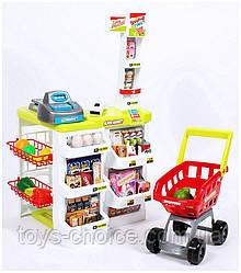 Игровой набор  Магазин 668-01-03 с тележкой, кассой, сканером, продуктами, прилавком PS