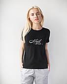 Женская футболка Модерн, черный принт Nail artist