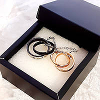 """Парные кулоны кольца медсплав. Подарок любимому мужчине. Гравировка""""Я всегда буду с тобой"""". Стильная упаковка"""