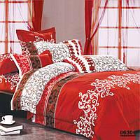 Постельное белье Viluta Ранфорс 8630 Евро Красный с белым (1005218)
