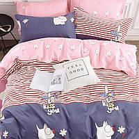 Подростковое постельное белье Viluta Сатин Твил 328 Полуторный Розовый с синим (1005707)