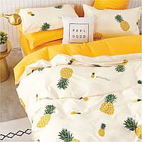 Подростковое постельное белье Viluta Сатин Твил 409 Полуторный Желтый (1005714)