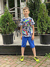 Яркие футболки для мальчиков 6-9лет