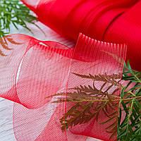 Регилин плоский (кринолин мягкий) / ширина 10 см / цвет красный / упаковка 25 м