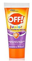 Детский крем от комаров, мокрец, москитов OFF! Junior, эффективная защита 2 часа, 50 мл