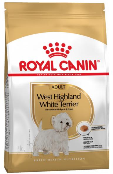 КОРМ ROYAL CANIN (РОЯЛ КАНІН) WEST HIGHLAND WHITE ADULT для собак породи вест-хайленд-уайт-терь