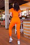 Спортивный женский костюм (топ+бриджи), разные цвета р.50-52,54-56,58-60,62-64 код 5211А, фото 8