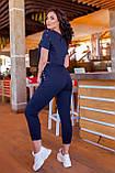 Спортивный женский костюм (топ+бриджи), разные цвета р.50-52,54-56,58-60,62-64 код 5211А, фото 5