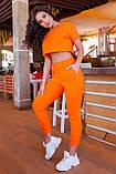 Спортивный женский костюм (топ+бриджи), разные цвета р.50-52,54-56,58-60,62-64 код 5211А, фото 7