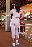 Спортивный женский костюм (топ+бриджи), разные цвета р.50-52,54-56,58-60,62-64 код 5211А, фото 10