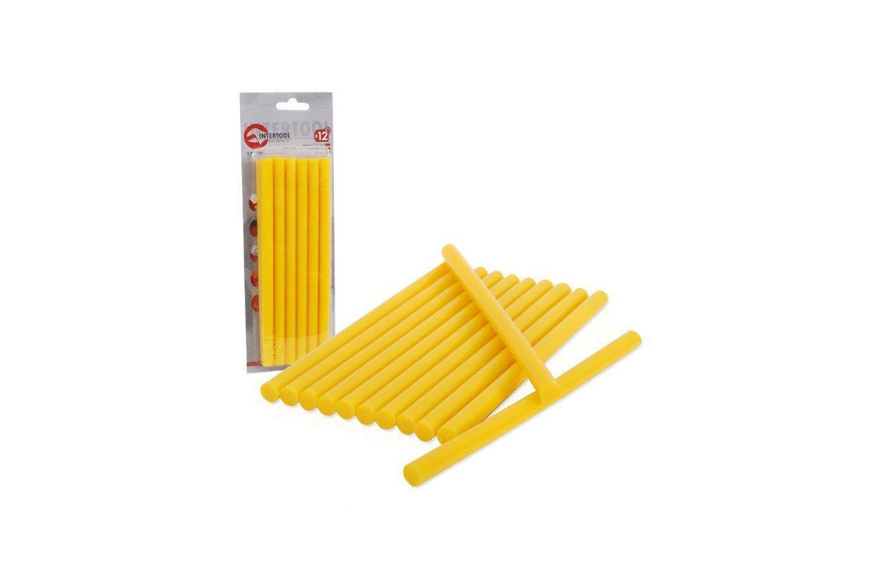 Клеевые стержни Intertool - 11,2 х 200 мм, желтые