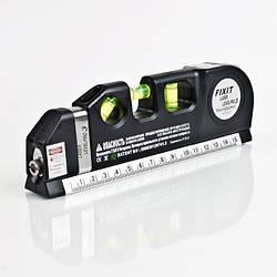 Лазерный уровень с рулеткой и линейкой