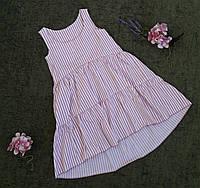 Дитячий літній сарафан на дівчинку 6-10 в смужку