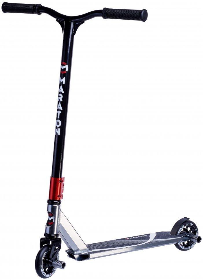 Трюковой самокат Maraton Dictator, Черный, с пегами, до 100 кг