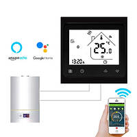 Терморегулятор Wi-Fi для газового котла 220В 3А BHT-002-GCLW, черный