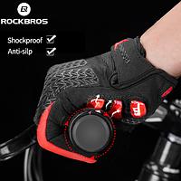 Перчатки велосипедные закрытые гелиевые L, 8.5-9см, RockBros S169-1