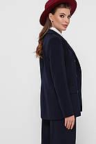 Классический темно-синий пиджак светлый женский однотонный размер 42,44,46,48, фото 3