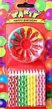 Набор свечей для торта Микс цветов