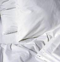 Полуторное постельное белье 1,5 бязь Gold белое.