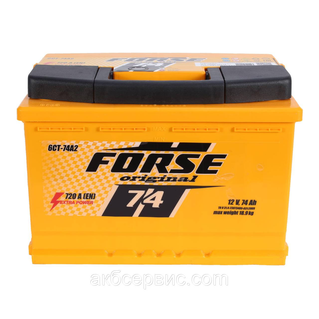 Аккумулятор автомобильный Forse 6СТ-74 АзЕ Original