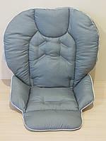 Чехол на стульчик Chicco Polly 2 в 1 серый в точку