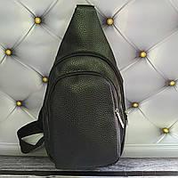 Рюкзак-слинг черный 32*18*8 кож зам, фото 1