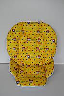 Чехол на стульчик для кормления Chicco Polly 2 в 1 Минни Маус на желтом