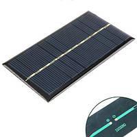 Солнечная панель батарея 6В 1Вт мини 110x60мм