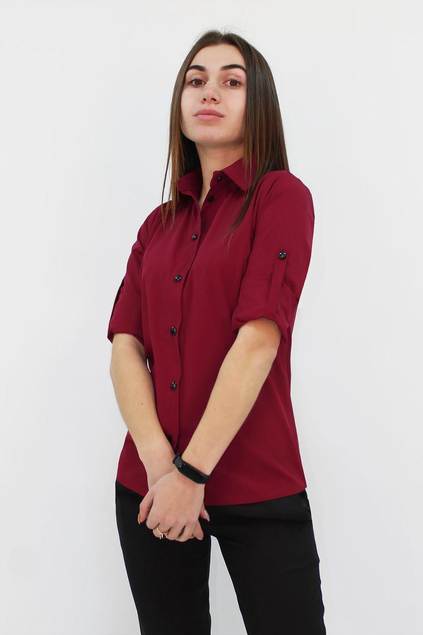 S, M, L | Класична жіноча блузка Ivory, марсала