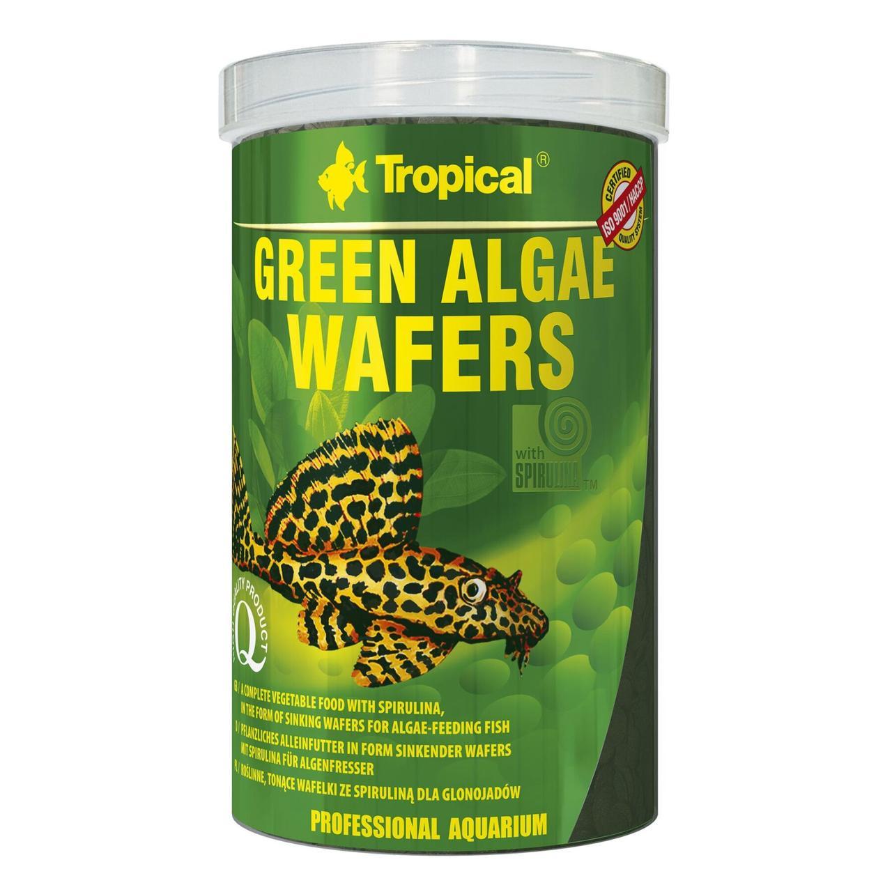 Сухой корм для аквариумных рыб Tropical в пластинках Green Algae Wafers 1 л