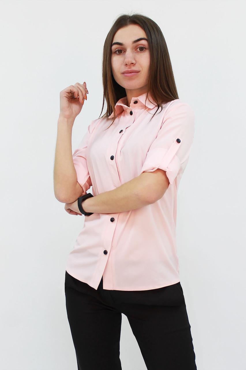 S, M, L   Класична жіноча блузка Ivory, рожевий