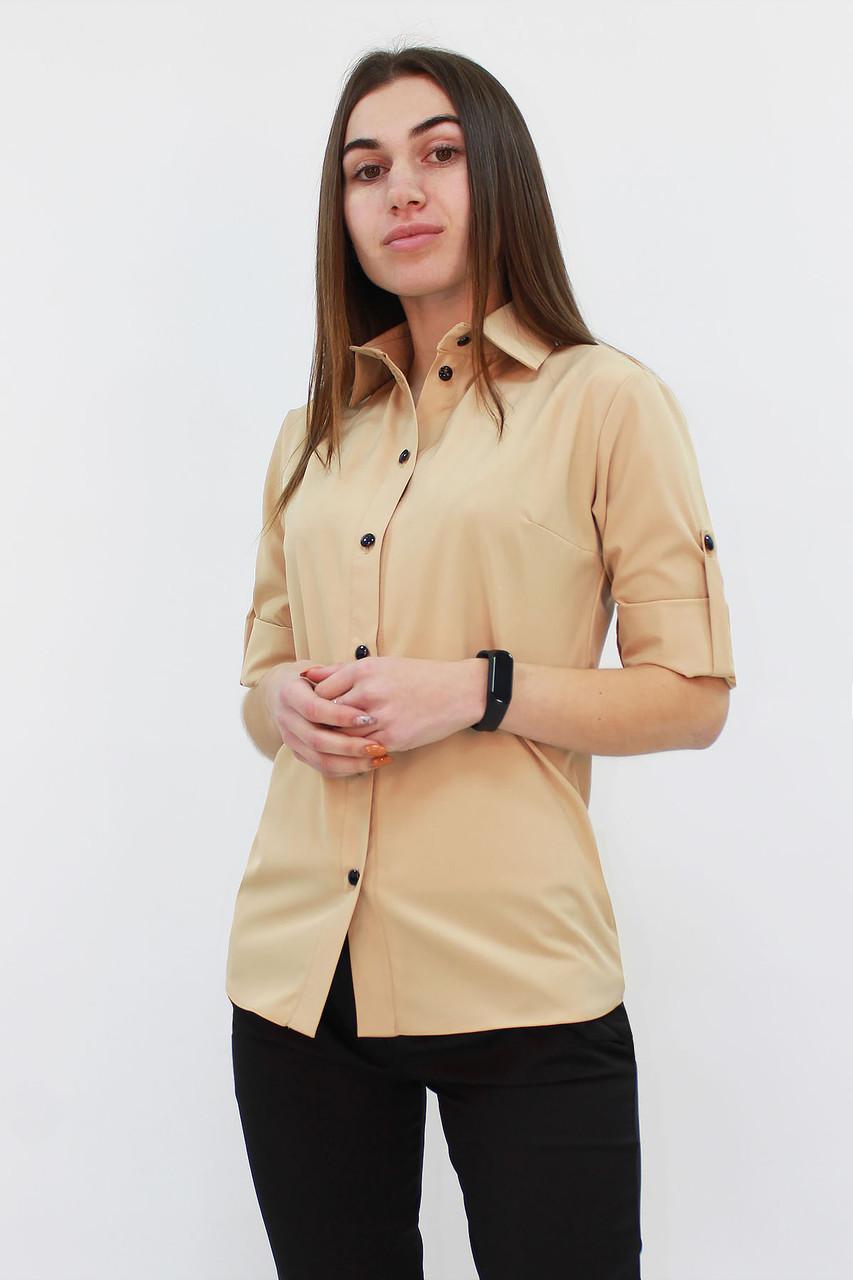 S, M, L | Класична жіноча блузка Ivory, бежевий