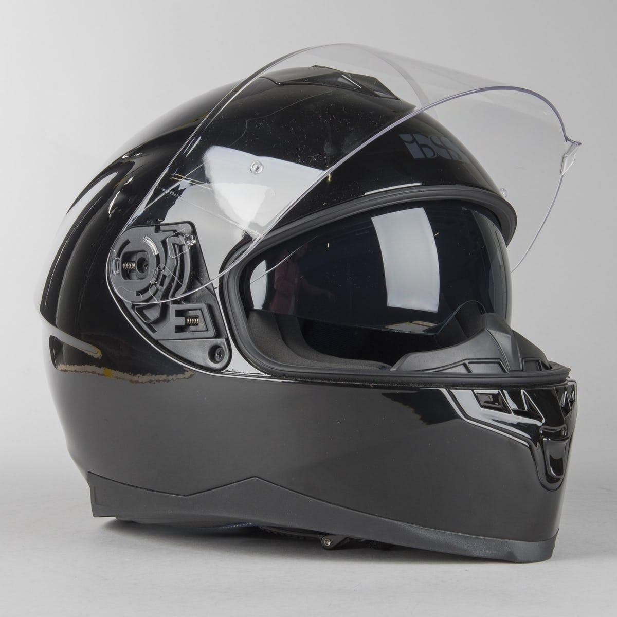 Мото Шлем интеграл IXS 1100 1.0 Full Face Helmet Black  Черный глянец