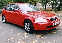 Ветровики, дефлекторы, защита окон для Honda Civic 3d htb EJ 10/1995-2000 \ Хонда Цивик хэтчбэк (17106 / 030)