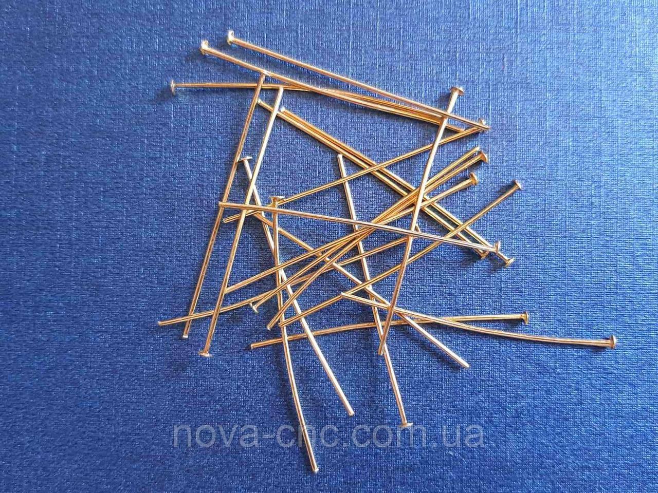 Фурнитура Пины гвоздики 50 мм 100 шт золото