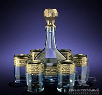 """Набор 7 предметный  (Штоф 500 мл +стопоки 50 мл ) рисунок """"Версаче""""."""