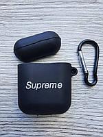 Чохол для AirPods Supreme, чорний