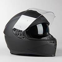 Мото Шлем интеграл IXS 1100 1.0 Full Face Helmet Matte Black Черный МАТ