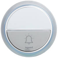 Кнопка звонка Белый IP44 COMFORT на батарейках LEGRAND