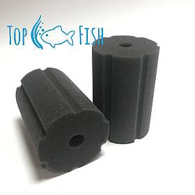 Фильтрующая губка TopFish 8х8х12см. цилиндрическая с вертикальной, широкой, не глубокой прорезью