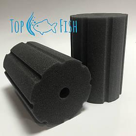 Фильтрующая губка TopFish 10х10х15см. цилиндрическая с вертикальной, широкой, не глубокой прорезью