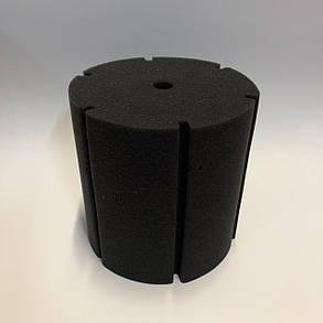 Фильтрующая губка TopFish цилиндрическая с вертикальной, широкой, глубокой прорезью, 15х15х15см , фото 2