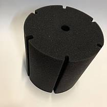 Фильтрующая губка TopFish цилиндрическая с вертикальной, широкой, глубокой прорезью, 15х15х15см , фото 3
