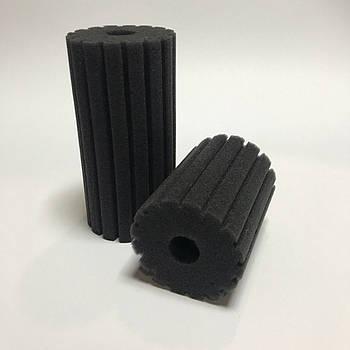 Фильтрующая губка TopFish 6х6х12см цилиндрическая, с вертикальной, мелкой прорезью