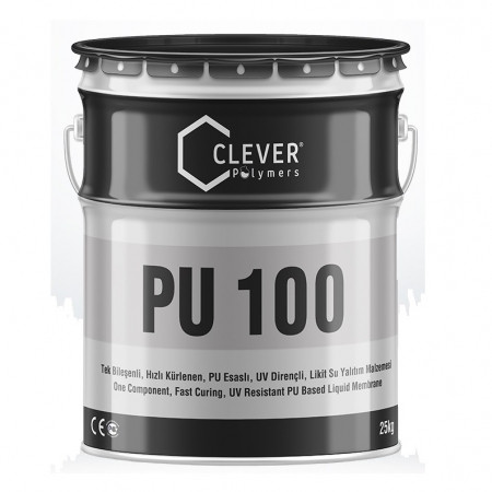 Clever PU Base 100 быстросохнущая ПУ гидроизоляция 1комп (25кг)