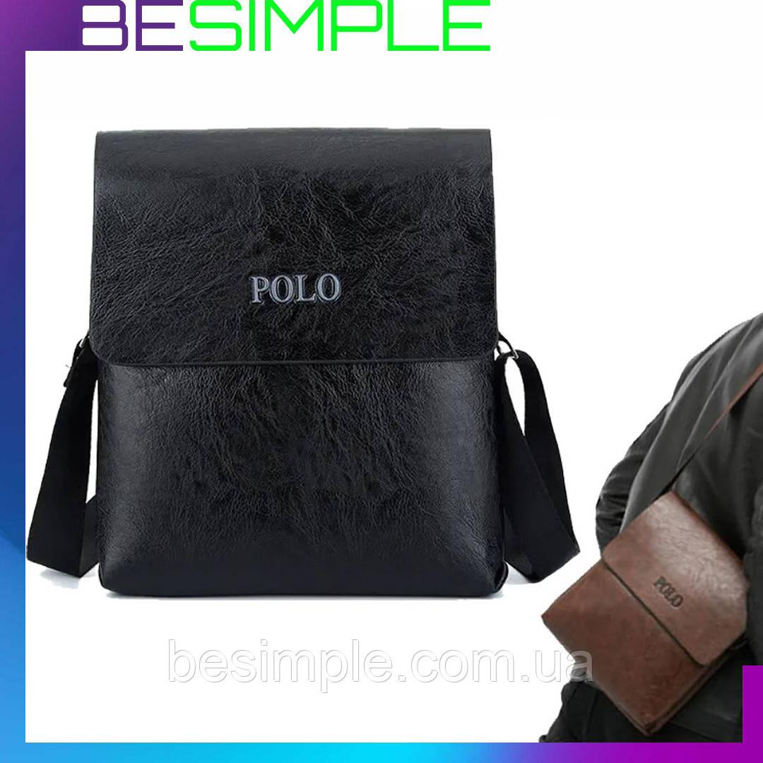 Мужская сумка через плечо Polo Videng Leather (27 x 24 x 8 см) / Мужские сумки и барсетки