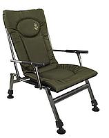 Кресло карповое, рыбацкое Elektrostatyk F8R с подлокотниками и фиксированной спинкой