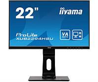 "Монитор Iiyama 21.5"" XUB2294HSU-B1 VA Black; 1920x1200, 4 мс, 250 кд/м2, DisplayPort, HDMI, D-Sub, 2хUSB2.0, колонки 2x1 Вт"
