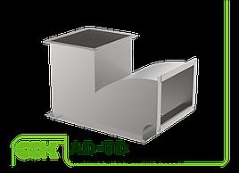 Тройник с дугообразным отводом для прямоугольного воздуховода AD-TD