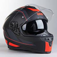 Шлем интеграл IXS HX 1100 2.0 Чёрно-Красный мат